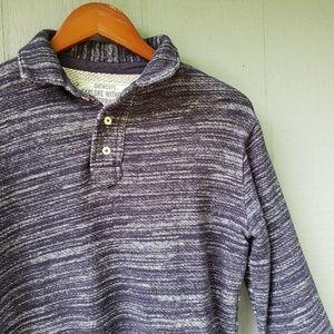 Crewcuts J Crew Boys Blue Marl Button Neck Sweater